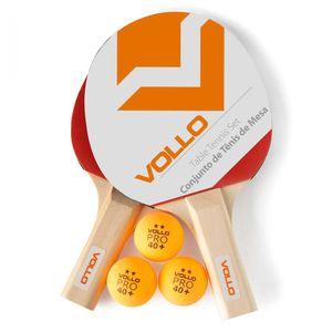 Kit Tenis de Mesa Vollo 2 Raq. 3 Bolas