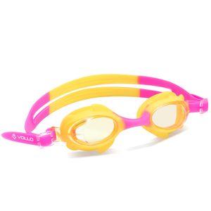 Óculos de natação Shark Fin Vollo Rosa e Amarelo